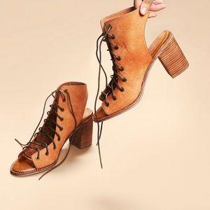 free people lace up 3.5 block heel